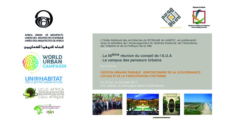 UNION AFRICAINE DES ARCHITECTES – UAA – 29/30 Juin 1/2 Juillet